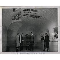 1952 Press Photo Jungfraujoch Glaciers Palace Swiss - RRX78909