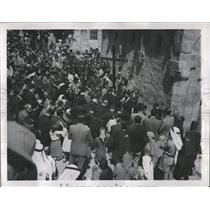1947 Press Photo Good Friday Remembrance Jerusalem - RRX80753