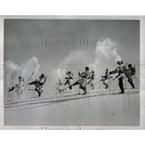 1953 Press Photo Japan's National Safety Corps, Skiers.