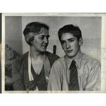 1955 Press Photo Russian Commissar Litvinov Wife Son - RRW77855