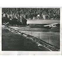 1956 Press Photo Swedish Police Patrolling from Air. - RRX81017