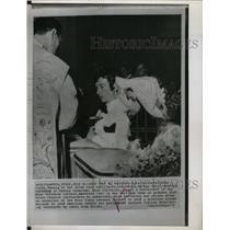 1971 Press Photo Miss Italy Mara Palvarini Wedding - RRX64097