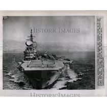 1960 Press Photo British Carrier HMS Hermes in Sicily - RRX62811
