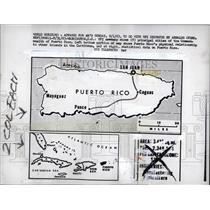 1963 Press Photo Puerto Rico map - RRW90633