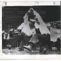 1954 Press Photo Russian Navy Entertain Swedish Host - RRX99237