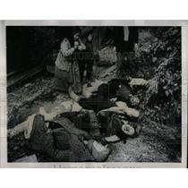 1944 Press Photo Soviet Film Ukraine In Flames Scene - RRX62269