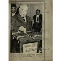 1970 Press Photo Luigi Longo Italian Communist Leader - RRW17565