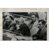 1958 Press Photo Soviet President Eisenhower Assembly - RRW66183
