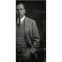 1935 Press Photo John Gates ceremonies stage show chest - RRX35049