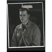 1941 Press Photo Bob Clayton Michigan Iowa game Heplex - RRW32649