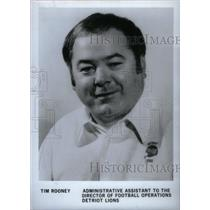 Undated Press Photo Tim Rooney Adminstrative Assisstant Director Lions - RRX39141