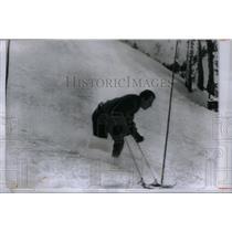 1960 Press Photo One Leg Skier Herbert Matz Montreal - RRX43239