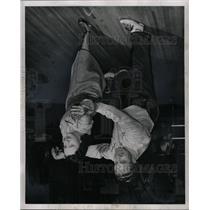 1949 Press Photo Andy Varipapa Mrs Arnie Falcone Fair - RRW13179