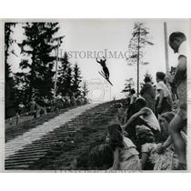 1957 Press Photo Summer Days Plastic Mats Skiing - RRW01055