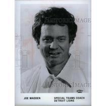 1981 Press Photo Detroit Lions Head Joe Madden - RRX38571