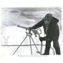 1971 Press Photo Artificial Snow-Making Equipment