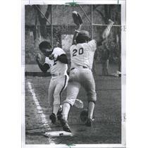 1974 Press Photo High School Baseball/Eddie Hodges/Al Hughes/Chicago - RSC29411