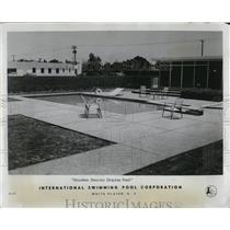 1958 Press Photo Houston dealer display swimming pool - RRW02577