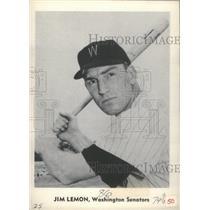Press Photo Jim Lemon Outfielder Washington Senators Manager Coach MLB