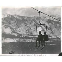 1967 Press Photo Daily News Heavenly Chairlift Sight