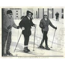1969 Press Photo Skiers Skiing Instructions Lessons