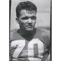 1941 Press Photo Detroit Lions Player Tripson Portrait Closeup - RSC28289