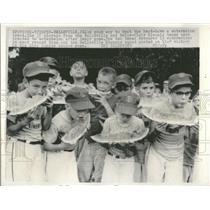 1966 Press Photo Belleville Clair Kiwanis watermelon