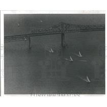 1977 Press Photo 16 Yachts Sail Off Pinellas Point 500- RSA29343