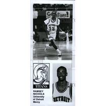 Press Photo Ramsey Nichols Titans Detorit Mercy player - RRW80737