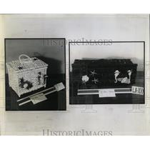 1954 Press Photo Portugal Wicker Totes - RRW92325