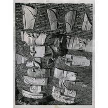1957 Press Photo Appian Way Rome Italy Sculptures