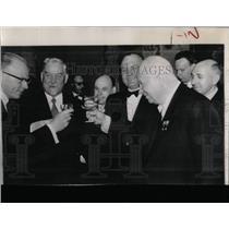 1957 Press Photo Russian Finnish Leaders Toast Helsinki
