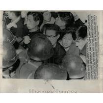 1960 Press Photo Leftist Students Tokyo Demonstrate