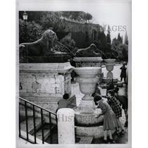 1956 Press Photo The New Fountain in Rome's Temple. - RRX70819