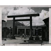1949 Press Photo Shinto Shrine Tokyo American Auto - RRX79603