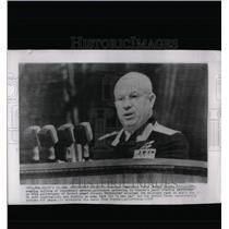1958 Press Photo Nikita Khrushchev Moscow Lenin Stadium
