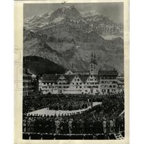 1938 Press Photo Parliament Meeting Glarus Switzerland - RRX75055