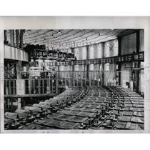 1956 Press Photo Russia Gaint Machine Study Atomic Nucl