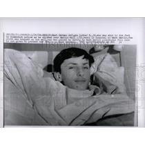 1964 Press Photo East German refugee shot Berlin Wall