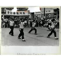 1982 Press Photo Kung Fu demonstration Mantis Council - RRW67253