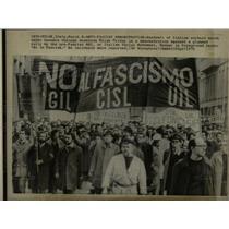 1975 Press Photo Anti-Fascist Demonstration Hundred Ita