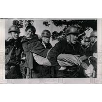 1964 Press Photo Protest Nuclear Sub in Japan - RRW77153