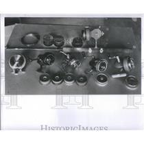 1948 Press Photo an assortment of fishing reels and equipment - RSC28695