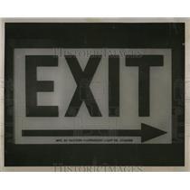 Press Photo Exit sign manufactured Chicago - RRW67659