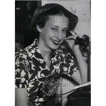 1936 Press Photo Peggy Ann Landon Kansas Governor - RRX41683