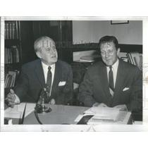 1960 Press Photo Illinois County Clerk Edward Barrett
