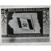1949 Press Photo 3-cent Iowa Anniversary Postage Stamp - RRY61613
