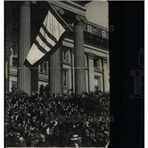 1918 Press Photo US Department of Treasury Flag - RRX71645
