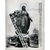 1966 Press Photo Virgin Mary Statue Piazza Di Spagna - RRX70605