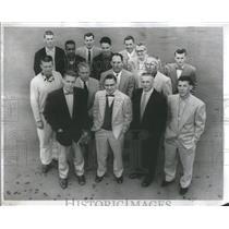 1955 Press Photo Pierce Whan Reynolds KenForeman Ohler Represent Athletics Meet